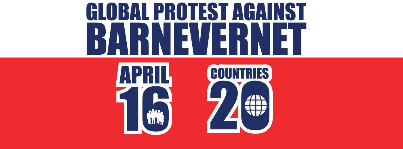 Worldwide Protest Against BARNEVERNET April 16, 2016